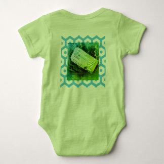 No Fuss    Luke 12:22 green Baby Bodysuit