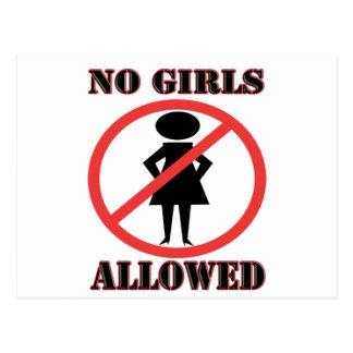 No Girls Allowed Postcard