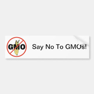 No GMO Bumper Sticker