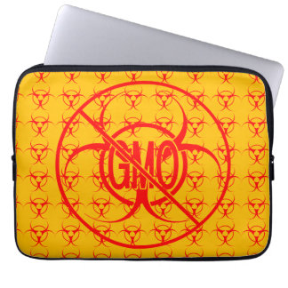 No GMO Laptop Case Biohazard GMO Laptop Sleeve