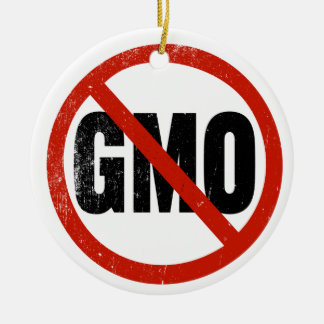 No GMO, Non GMO, March Against Monsanto Ceramic Ornament