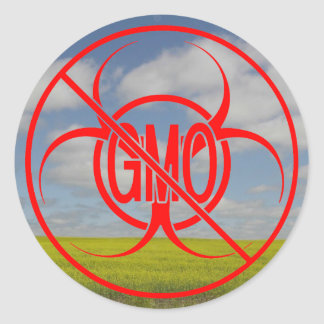 No GMO Stickers Biohazard Warning GMO Stickers