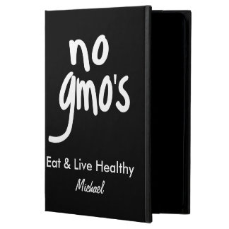 No GMO's Eat Healthy Black Name Personalized iPad Air Cover