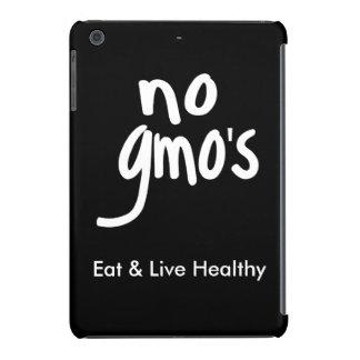 """No GMO's Eat Healthy Black White Promotion iPad Mini Cases"