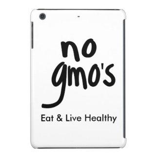 """No GMO's Eat Live Healthy White Black Promotion iPad Mini Retina Cover"