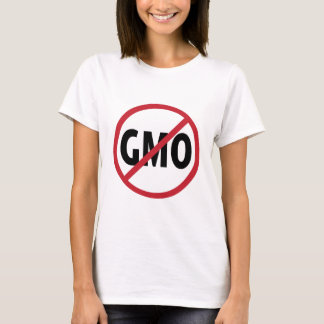 """No GMO's- """"What's in Your Food?"""" (Back) T-Shirt"""