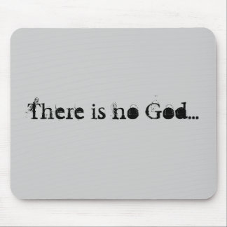 No God mousepad (Grey)