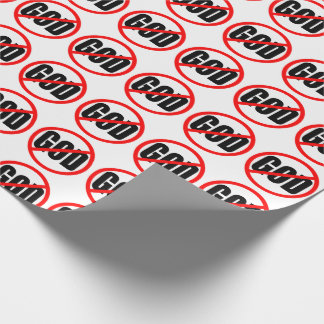 """""""NO GOD"""" WRAPPING PAPER"""