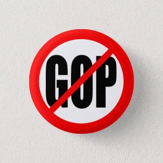"""""""NO GOP"""" 1 INCH ROUND BUTTON"""