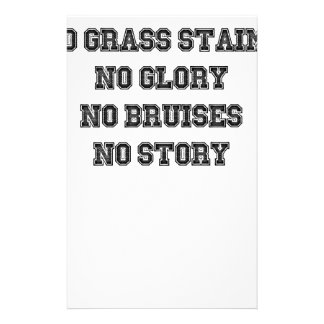 No Grass Stains, No Glory, No Bruises, No Story Stationery