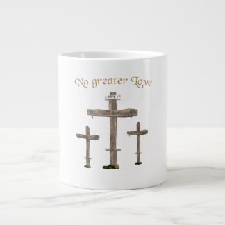 no greater love large coffee mug