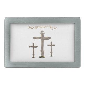 no greater love rectangular belt buckle