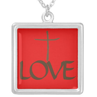 No Greater Love Silver Plated Necklace