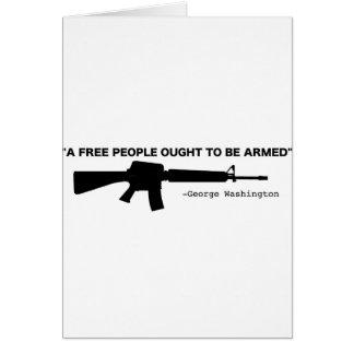 No Gun Control Greeting Card