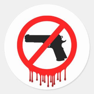 No Guns Allowed = Innocent Dead Round Sticker