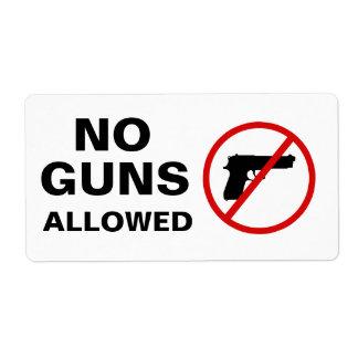 No Guns Allowed Stickers