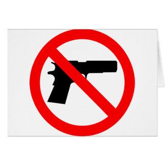 No Guns Anti Gun Card