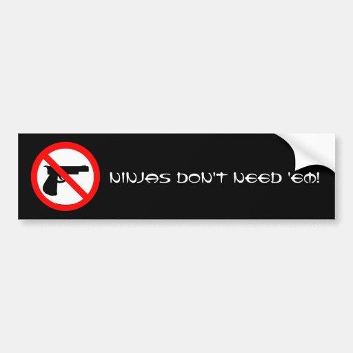 No Guns for Ninjas Bumper Stickers