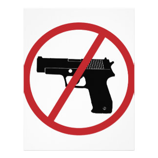 No Guns Personalized Letterhead