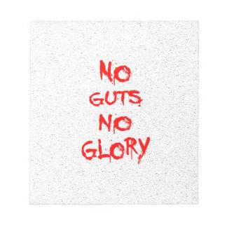 No Guts No Glory Notepad
