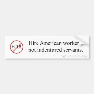 NO H-1B bumper sticker