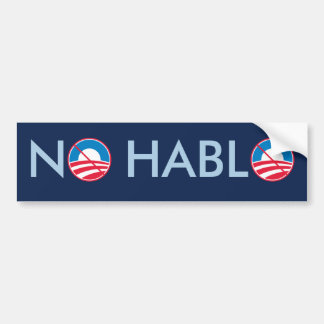 No Hablo Bumper Sticker