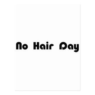 No Hair Day Post Card