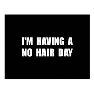 No Hair Day Postcard