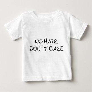 No Hair Don't Care Baby Shirt