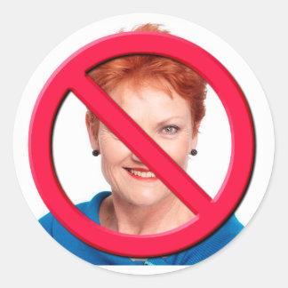 No Hanson Classic Round Sticker