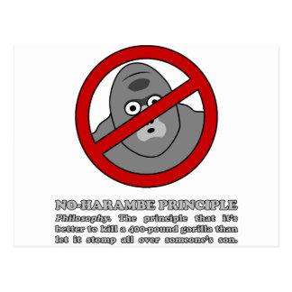 No-Harambe Principle Postcard