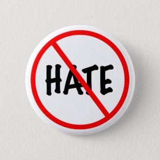 No Hate 2 Inch Round Button