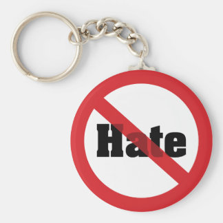 No Hate Basic Round Button Keychain