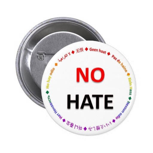 No Hate in Many Languages Pin