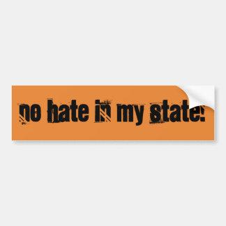 No Hate in MY State Anti Trump Bumper Sticker