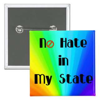 No Hate Love Trumps Hate LGBT Button