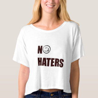 NO HATERS CROP TOP