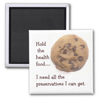No Health Food Square Magnet