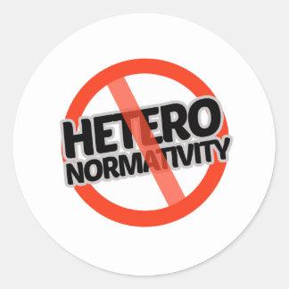 No Hetero-Normativity - -  Classic Round Sticker