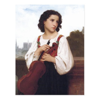 No higher resolution available. Bouguereau_Seule-a Postcard