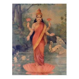 No higher resolution available. Ravi_Varma-Lakshmi Postcard
