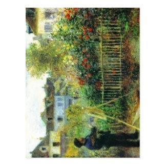 No higher resolution available. Renoir-Monet_paint Postcard