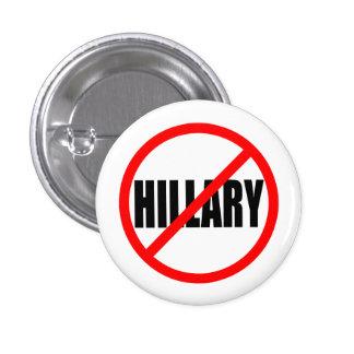 """""""NO HILLARY"""" 1.25-inch 1 Inch Round Button"""