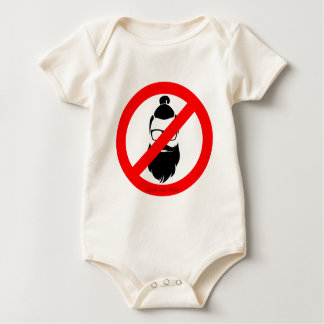 No Hipsters or Man Buns Baby Bodysuit
