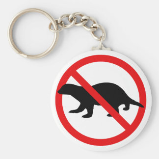 No Honey Badgers Keychain
