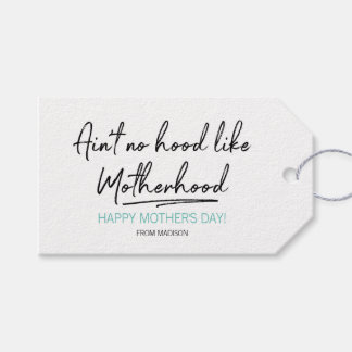 No Hood Like Motherhood Mother's Day Gift Tags