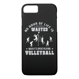 No Hour Wasted When Playing Volleyball iPhone 8/7 Case