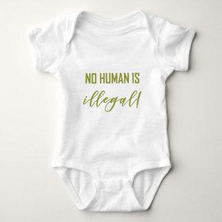 NO HUMAN IS... BABY BODYSUIT