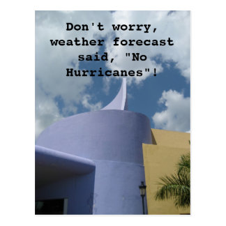 No Hurricanes Postcard