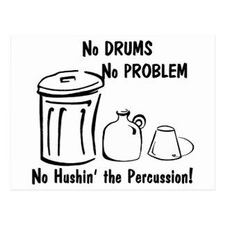 No Hushin the Percussion Postcards